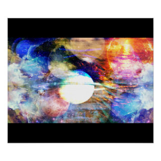 Galaxy Abstract Poster