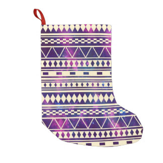 Galaxy andes aztec small christmas stocking