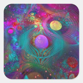 Galaxy Art Square Sticker