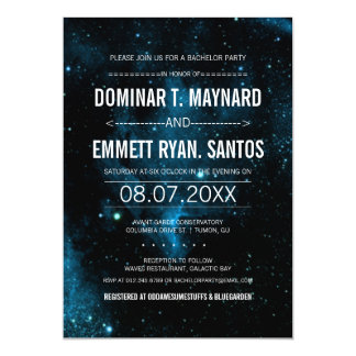 Galaxy Bachelor Party Invite