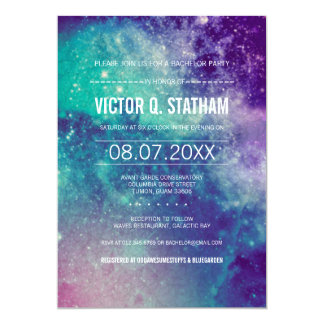 Galaxy Bachelor Party Invite