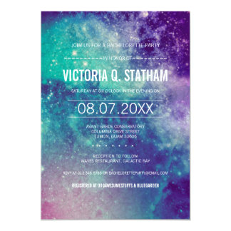 Galaxy Bachelorette Party Invite
