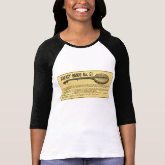 Galaxy Banjo Ladies 3/4 Sleeve Raglan T-Shirt