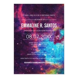 Galaxy Birthday Party Invite