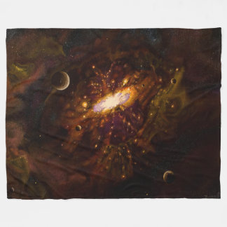 Galaxy, Black Hole Fleece Blanket