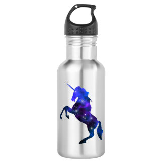 Galaxy  blue beautiful unicorn sparkly image 532 ml water bottle