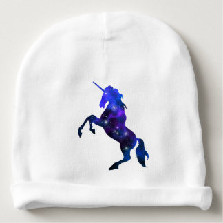 Galaxy  blue beautiful unicorn sparkly image baby beanie