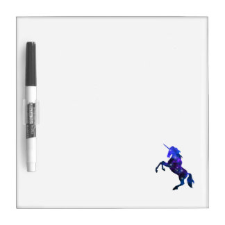 Galaxy  blue beautiful unicorn sparkly image dry erase board