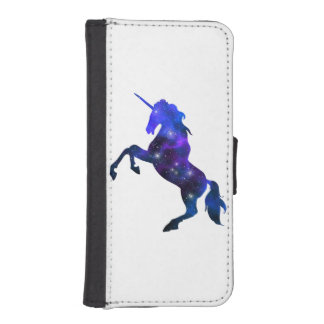 Galaxy  blue beautiful unicorn sparkly image iPhone SE/5/5s wallet case