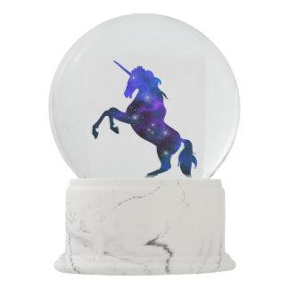 Galaxy  blue beautiful unicorn sparkly image snow globe