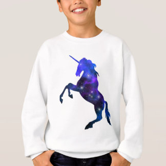 Galaxy  blue beautiful unicorn sparkly image sweatshirt