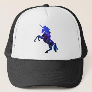 Galaxy  blue beautiful unicorn sparkly image trucker hat