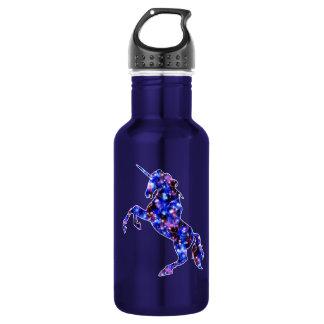 Galaxy blue beautiful unicorn starry sky image 532 ml water bottle