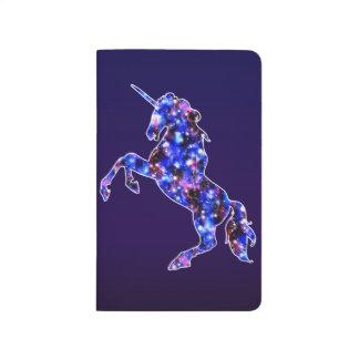 Galaxy blue beautiful unicorn starry sky image journal