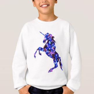 Galaxy blue beautiful unicorn starry sky image sweatshirt