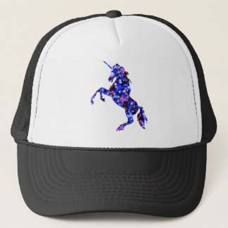 Galaxy blue beautiful unicorn starry sky image trucker hat