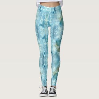 Galaxy blue watercolor leggings