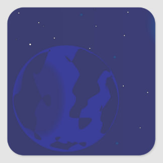 Galaxy Blur Square Sticker
