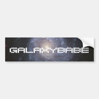 Galaxy Bumper Sticker with Custom Text Car Bumper Sticker