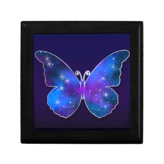 Galaxy butterfly cool dark blue illustration gift box
