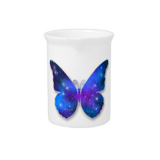 Galaxy butterfly cool dark blue illustration pitcher