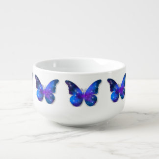 Galaxy butterfly cool dark blue illustration soup mug