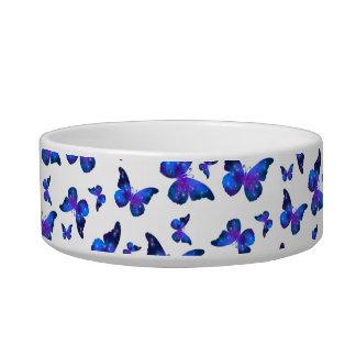 Galaxy butterfly cool dark blue pattern bowl