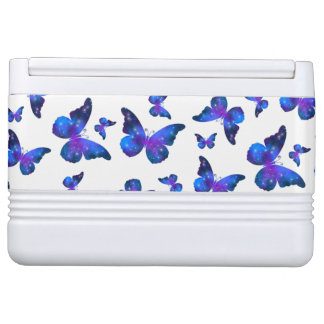 Galaxy butterfly cool dark blue pattern cooler