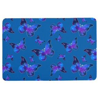 Galaxy butterfly cool dark blue pattern floor mat