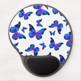 Galaxy butterfly cool dark blue pattern gel mouse pad
