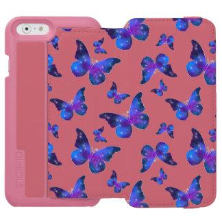Galaxy butterfly cool dark blue pattern incipio watson™ iPhone 6 wallet case