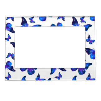 Galaxy butterfly cool dark blue pattern magnetic frame