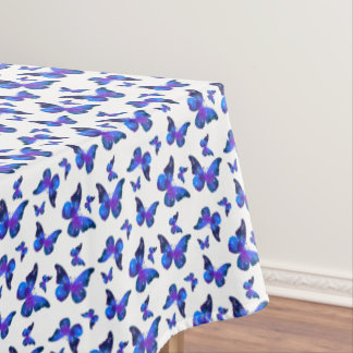 Galaxy butterfly cool dark blue pattern tablecloth