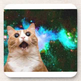 GALAXY CAT DRINK COASTERS