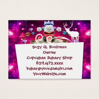 galaxy cat in diamond business card