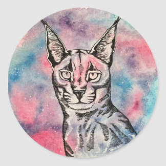 Galaxy cat Sticker