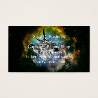 Galaxy Cat Universe Kitten Launch Business Card