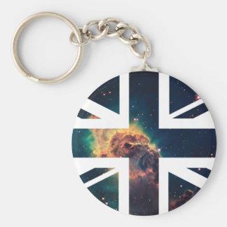 Galaxy Cloud Union Jack British(UK) Flag Key Chain
