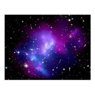 Galaxy Cluster MACS J0717 (Hubble Telescope) Postcard