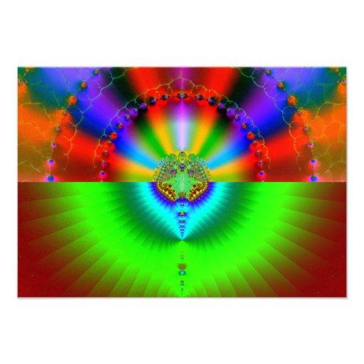 Galaxy Collision Fractal Personalized Invite