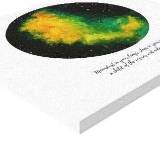 Galaxy Constellation Original Painting Watercolor Canvas Print