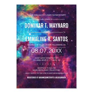 Galaxy Couple Baby Shower Invite