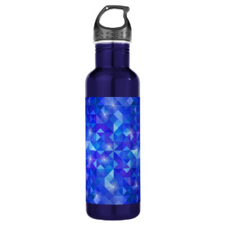 Galaxy crystal Blue polygonal facet pattern 710 Ml Water Bottle