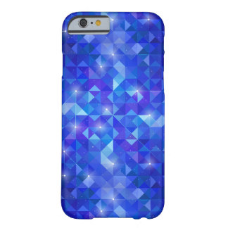 Galaxy crystal Blue polygonal facet pattern Barely There iPhone 6 Case