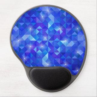 Galaxy crystal Blue polygonal facet pattern Gel Mouse Pad