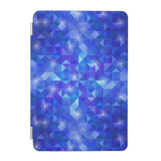 Galaxy crystal Blue polygonal facet pattern iPad Mini Cover
