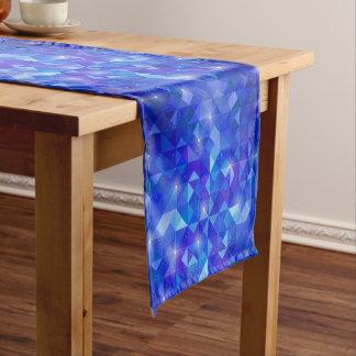 Galaxy crystal Blue polygonal facet pattern Short Table Runner