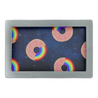 Galaxy Donut Rainbows Belt Buckle