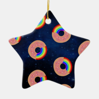 Galaxy Donut Rainbows Ceramic Star Decoration