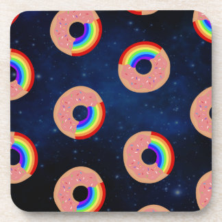 Galaxy Donut Rainbows Drink Coasters